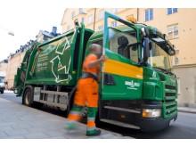 Miljö-Sopbil i Stockholms centrum drivs med biodrivmedlet ED95
