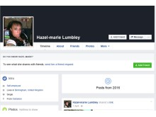 Hazell Lumbley's Facebook profile, used to sell cigarettes
