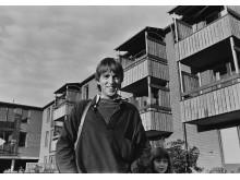 Jens S. Jensen i Hammarkullen 1973. Fotograf: Jesper S Jensen, 3 år.