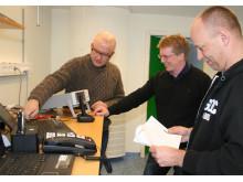 Compare Testlab och Altran: Sven Wedemalm (Compare Testlab) med Mattias Lindahl och Peter Torpman (Altran)