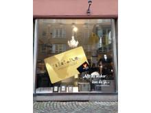 Malmö citys presentkortskampanj julen 2013 - gamla bolagrets skyltfönster