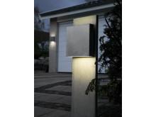 Fox Design vägg- eller pollararmatur Square eller Square LED