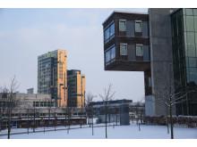 Ideon Gateway - Ingvar Kamprad Designcentrum i förgrunden