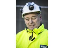 Anleggsleder Ole Jørgen Fjeld i HENT Entreprenør
