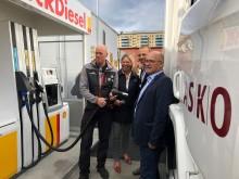 RED95-tanking på Shell Grorud_Asko, Scania, St1