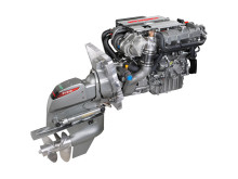 Hi-res image - YANMAR - YANMAR 4LV marine diesel engine with ZT370 sterndrive