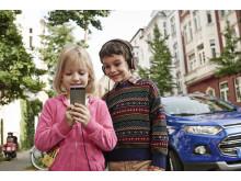 Ford SYNC sekä Jali ja suklaatehdas viihdyttävät Fordin lapsimatkustajia