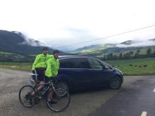Jonas og Steffen sykler
