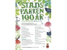 Stadsparken 100 år - program för invigningen 19 juni