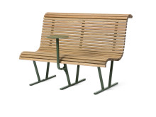 Cane soffa med bord, design Broberg & Ridderstråle.