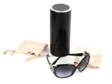 Fashionabla 21 juli, nr 8, solglasögon, BVLGARI, svarta bågar med swarovskikristaller på sidorna