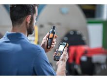 testo 440 med en Bluetooth-givare för CO-mätning