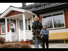 Lina Öberg med sonen Folke
