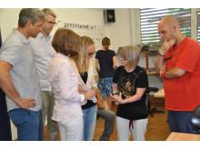 Takeda Azubis spenden 750€ / Führung in Werkstätte St. Pirmin in Singen