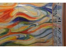 Mosaik i entréerna på Närlunda