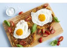 Grønnsaksrøsti med stekt egg