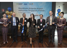 Nya linjen Stockholm-Singapore invigdes idag