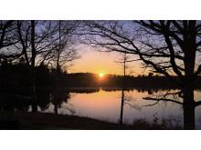 Ålstadnäset, solnedgång