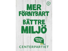 Affisch Milljö