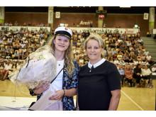 Camilla Spanggaard Bach fik det nystiftede legat fra Arena Randers for at vise, hvordan idræt og uddannelsen kan gå hånd i hånd.