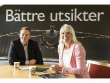Mats Adolfsson, kommunikationschef, och Carina Wutzler, kommunstyrelsens ordförande.