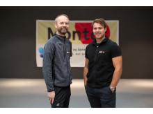 F.v: Kåre Johnny Hage, daglig leder og Tommy Johansen, ansvarlig Proff og Montér Byggeservice.