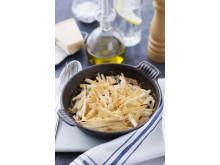 Parmesangratinerade svartrötter receptbild
