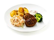 Felix Smart mat - Kalkonbiff med örtaioli, ljummen potatissallad och gratinerad blomkål