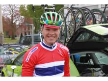 Tobias Foss før Paris-Roubaix