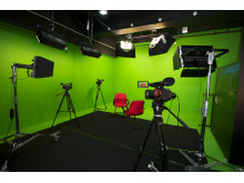 Green screen TV studio