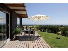 Saga Wood terrasse med svanemerket plank