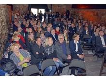 Publikum des 200. Tourismusfrühstücks in der Moritzbastei
