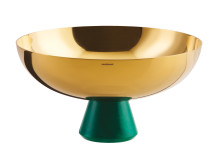 SBT_Madame_Cup_with_foot_20,5cm_PVD_Gold_Green_Malachit_Resin