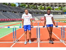 Müller brand ambassadors Adam Gemili and Dina Asher-Smith 1