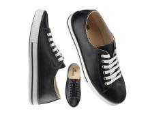 Sneakers i svart skinn