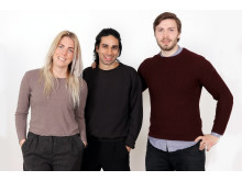 Mikaela Pedersen, Artan Mansouri & Simon Ignat från Tracy, fotograf Victor Ackerheim