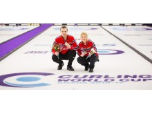 Kristin og Magnus Curling World Cup vinnere