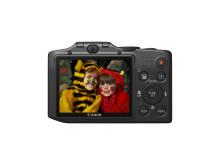 Canon PowerShot SX160 IS bakifrån