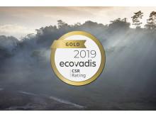 Canon får guld för hållbarhet av EcoVadis
