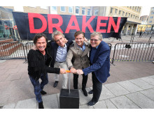 Invigning spadtag för Clarion Hotel Draken
