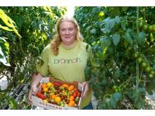 Caroline Andersson från Brännan Trädgård. Nominerad till Årets klimatbonde