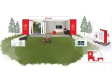 Illustrasjon av Postens stand under Arendalsuka 2019