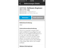 Mobile Bewerbung mit LinkedIn: Stellenbeschreibung