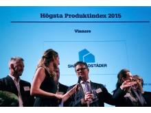 Vinnare av högsta produktindex 2015