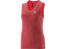 Salomon Trail runner sleeveless tee W, infra red