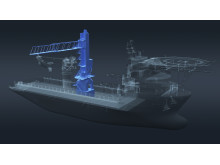 High res image - Kongsberg Maritime - K-Walk gangway concept