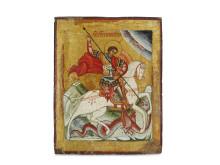 Russisk ikon af Skt. George og dragen