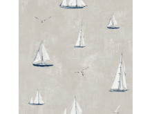 Wallpaper Scandinavia 10x0,53 m Sailboat Beige Non-woven