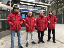 Områdesvärdar i Skarpnäck: Abdullah, Kim, Lasse och Karim