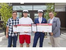 Stolta Bygmastipendiater på Dragonskolan i Umeå